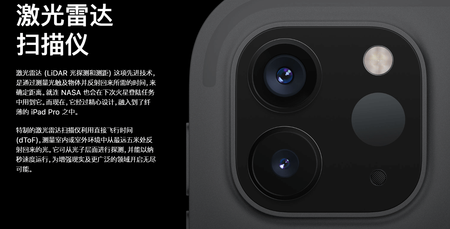 iPad Pro 2020 LiDAR scanner