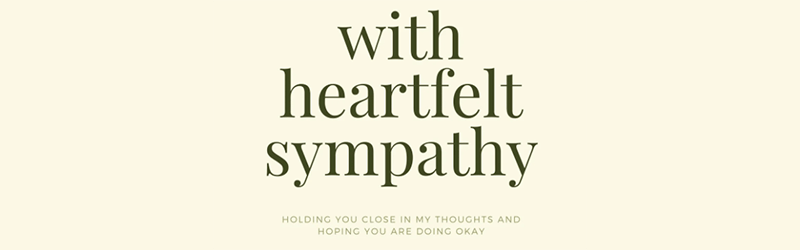 with heartfelt empathy