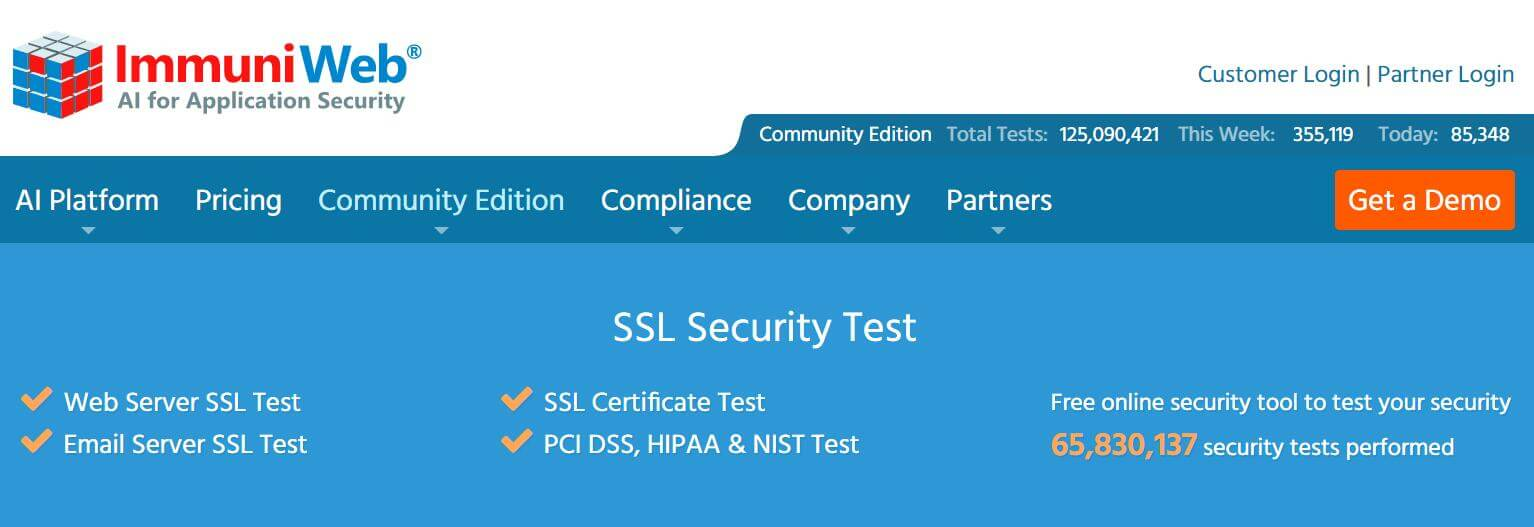 SSL安全在线检测ImmuniWeb-SSL