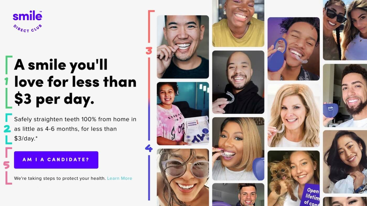 Landing Page Example Smile