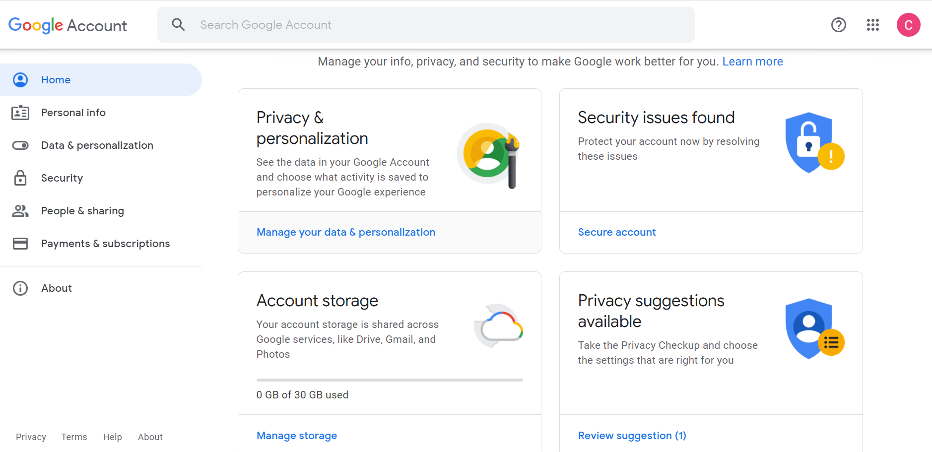 Google Workspace User Account