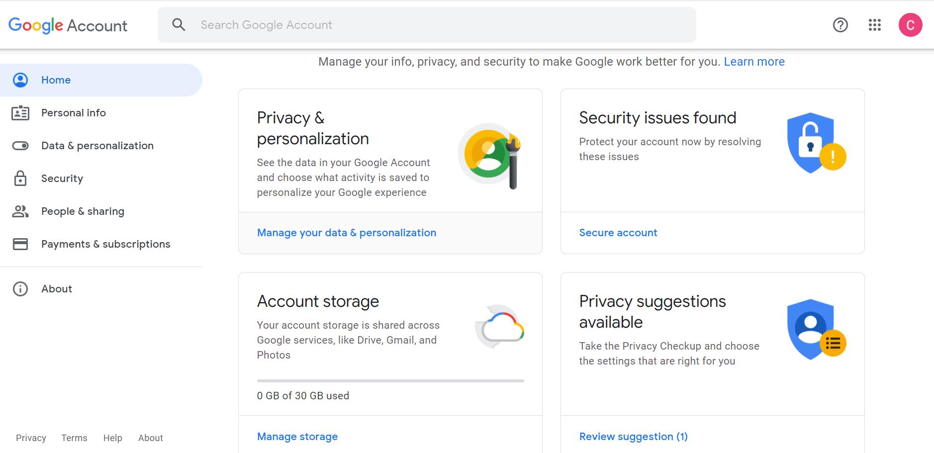 Google Workspace User Account